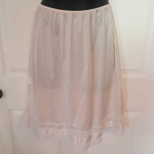 Vintage Antique White Half Slip